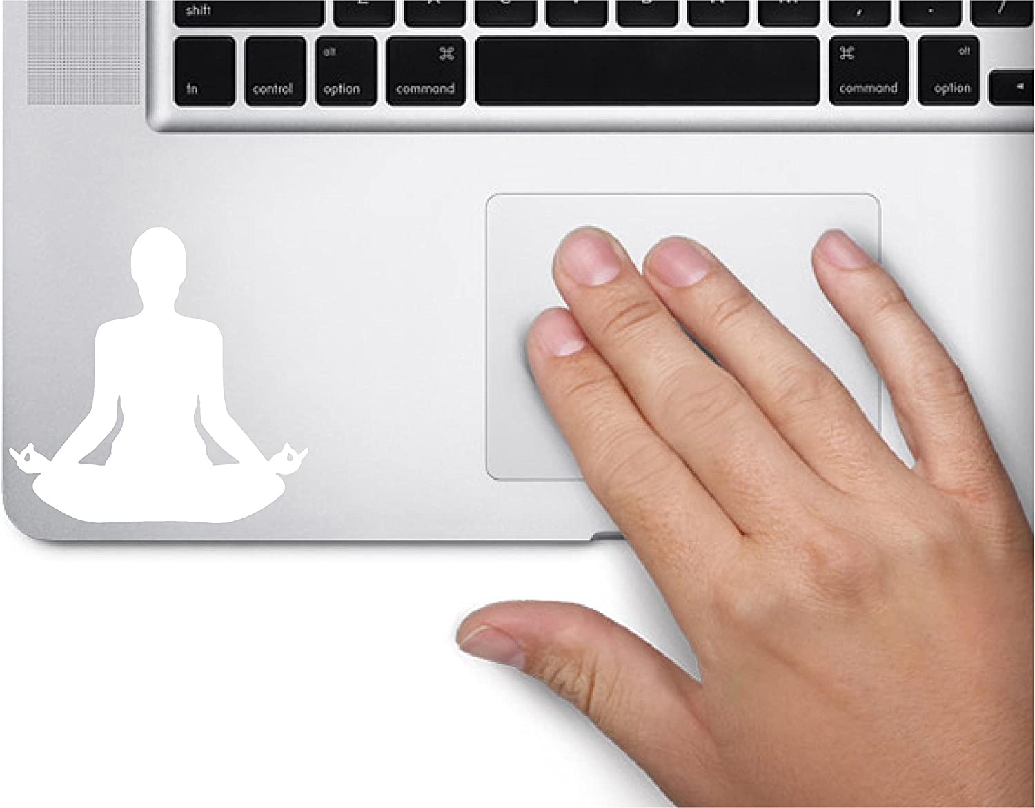 Yoga Pose Symbol Namaste Decal Funny Laptop Skin MacBook Trackpad Keypad Sticker Window