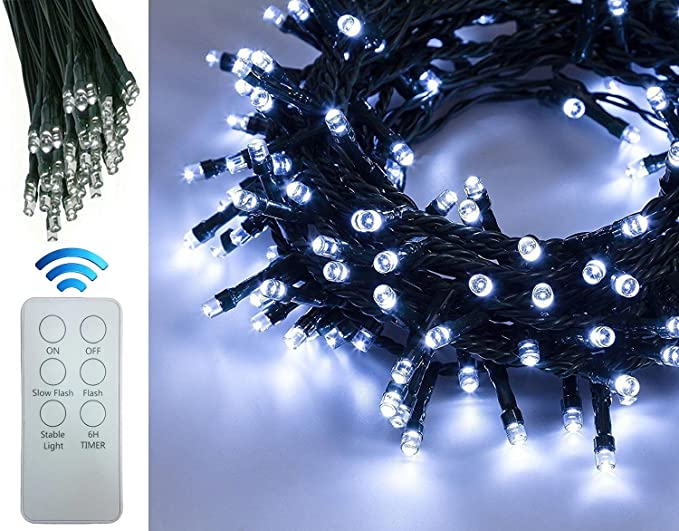 Decorazioni Luminose Natalizie : Bakaji catena luminosa natalizia 100 led con telecomando lunghezza