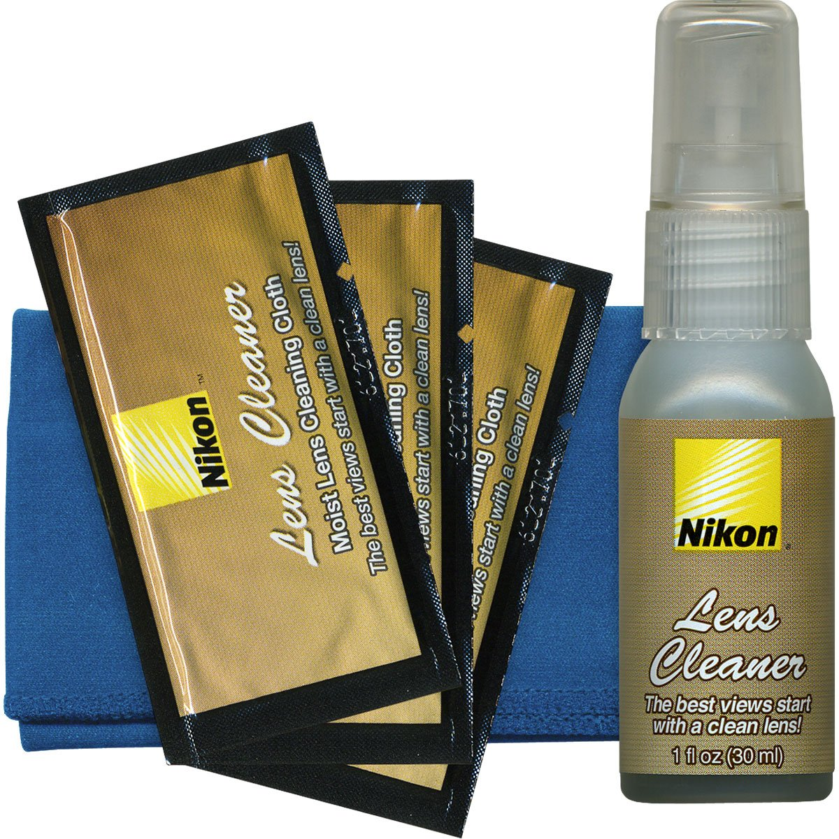 Nikon Lens and Digital SLR Camera Cleaning Kit with Cloth + Lenspen SensorKlear Loupe Cleaning Kit for D4S, D810, D800, D610, D7100, D7000, D5300, D5200, D3300, D3200 by Nikon