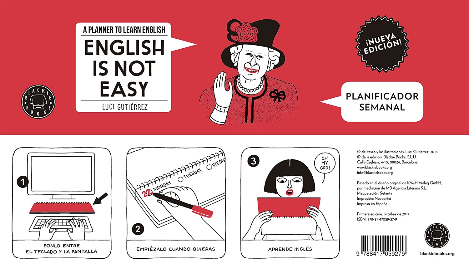 English Is Not Easy. Planificador semanal Luci Gutiérrez Blackie Books BB10001 Gift books