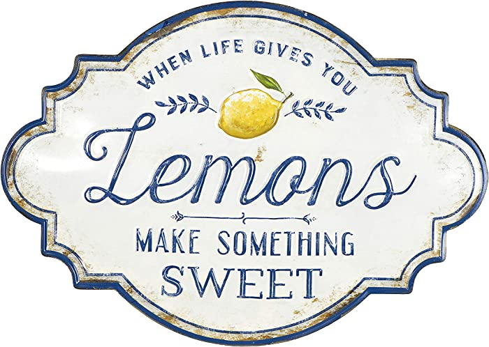 "Creative Co-Op ""When Life Gives You Lemons Make Something Sweet"" Metal Wall Décor"