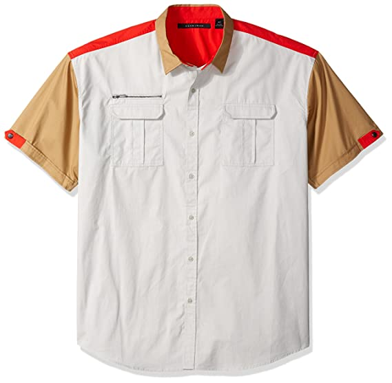 a09c94cdbe4 Sean John Men s Big-Tall Short Sleeve Colorblock Flight Shirt