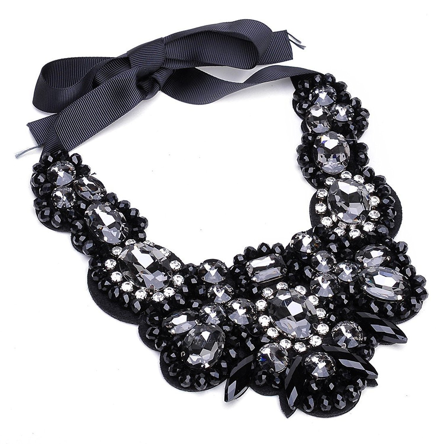 Holylove Choker Necklaces for Women, Black Statement Necklace Bling Fashion Jewelry with Gift Box