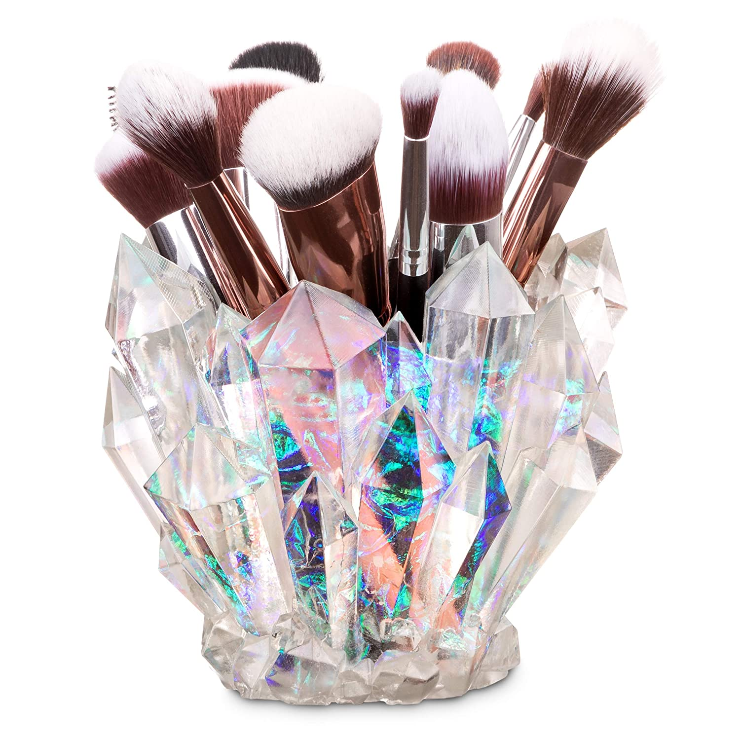 Wicked Vanity Beauty Crystal Makeup Brush Holder Pen Holder Vanity Desk Office Organizer Stationary Decor Planter
