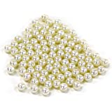 Koyal Wholesale 1-Pound Loose Pearls Table Decor Vase Filler, 10mm, Ivory