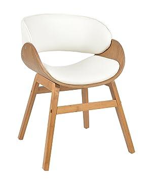 Ts Ideen 1x Design Club Sessel Esstisch Küchen Esszimmer Stuhl Sitz In Weiß  + Holz