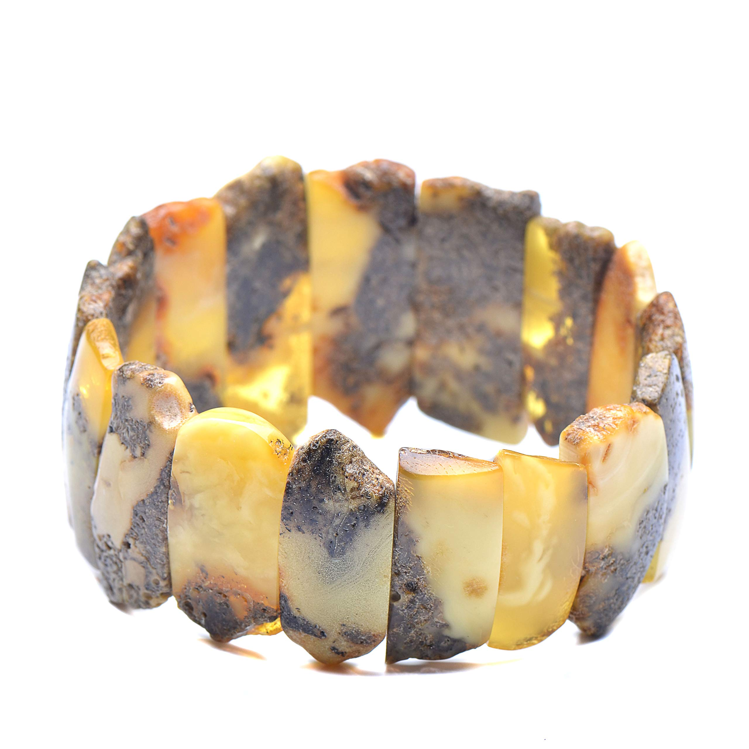 Exclusive Amber Bracelet - Unique Amber Jewelry - Unique Bracelet - Vintage Bracelet - Vintage Amber Bracelet by Genuine Amber (Image #1)