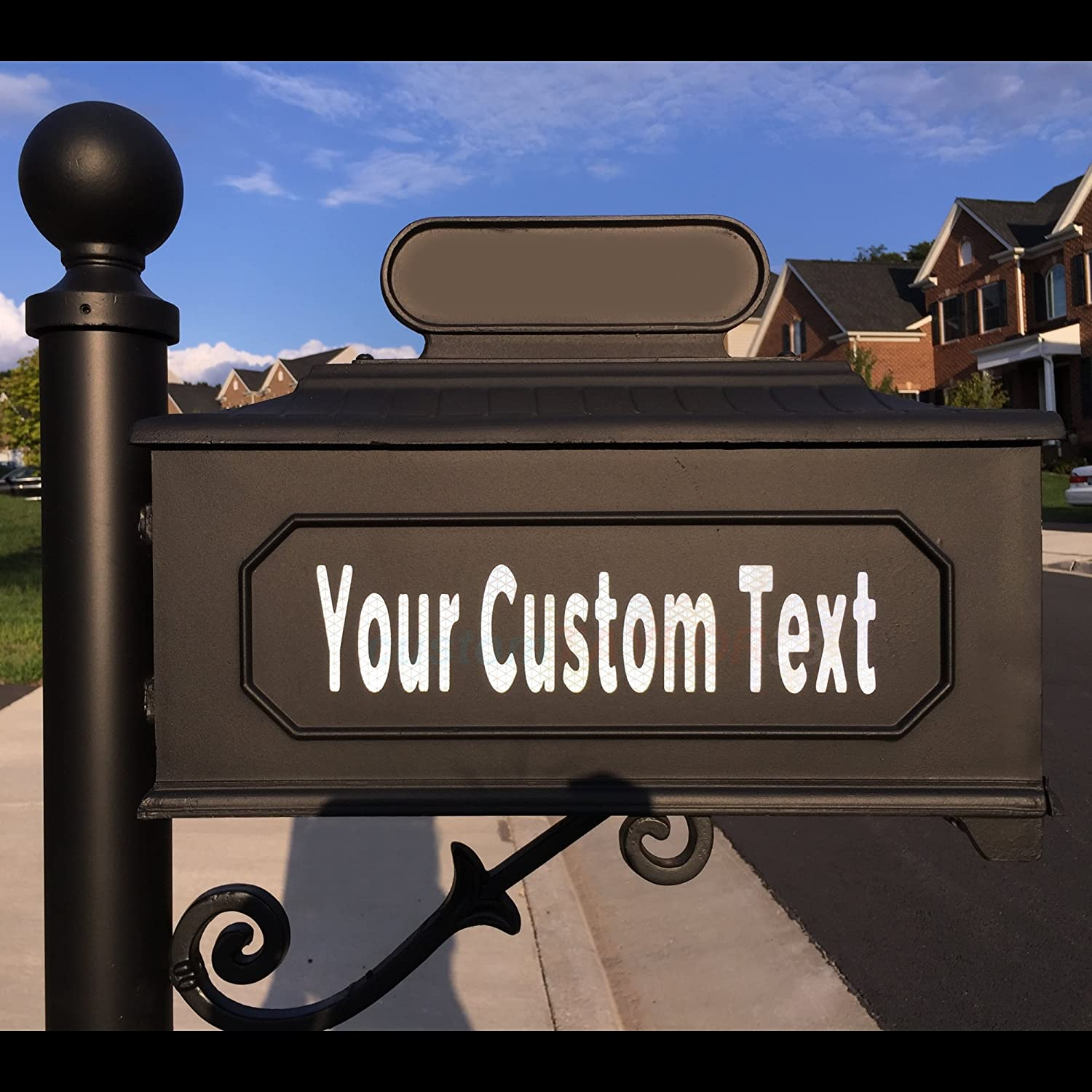 Apartments Houses Condos customTAYLOR33 High Intensity Grade Reflective Custom Mailbox Letters Numbers 3 inch Font Height, 2 Rows of Text Businesses