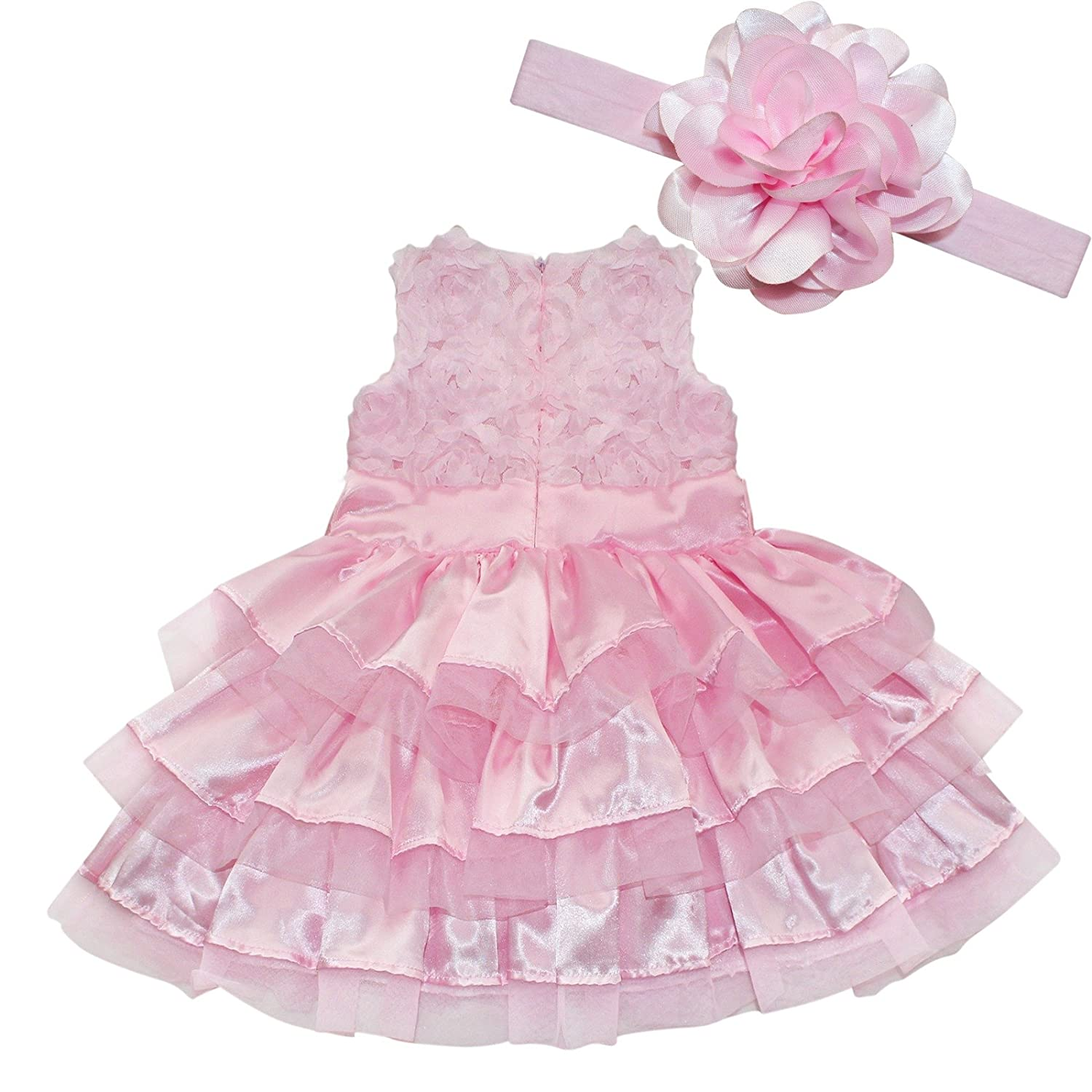 Amazon.com: iEFiEL Baby Girls Rosette Tunic Princess Dress with ...