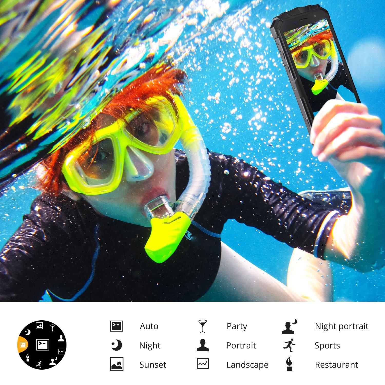 inmersion con esnorquel y smartphone doogee s60 submarinismo con snorkel