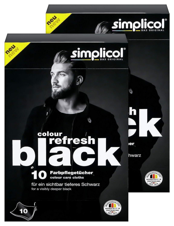 Cuida Ropas Descoloridas para Quedar Negro Brillantes Simplicol pa/ños Ropa Negra 10 piezas