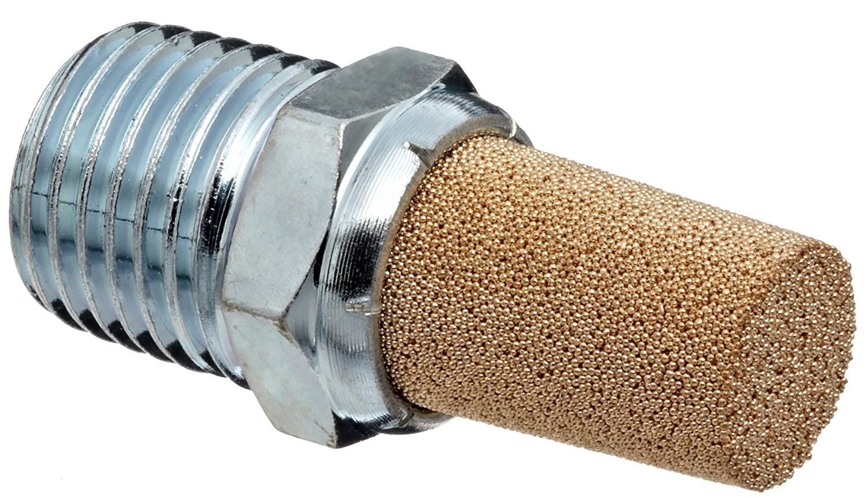 "Nickel Plated Iron Sintered Bronze Exhaust Muffler 1-1//4/"" NPT"