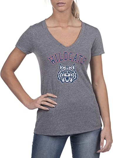 Top of the World NCAA Womens Trim Modern Fit Premium Cotton Boyfriend Gray Heather Tee