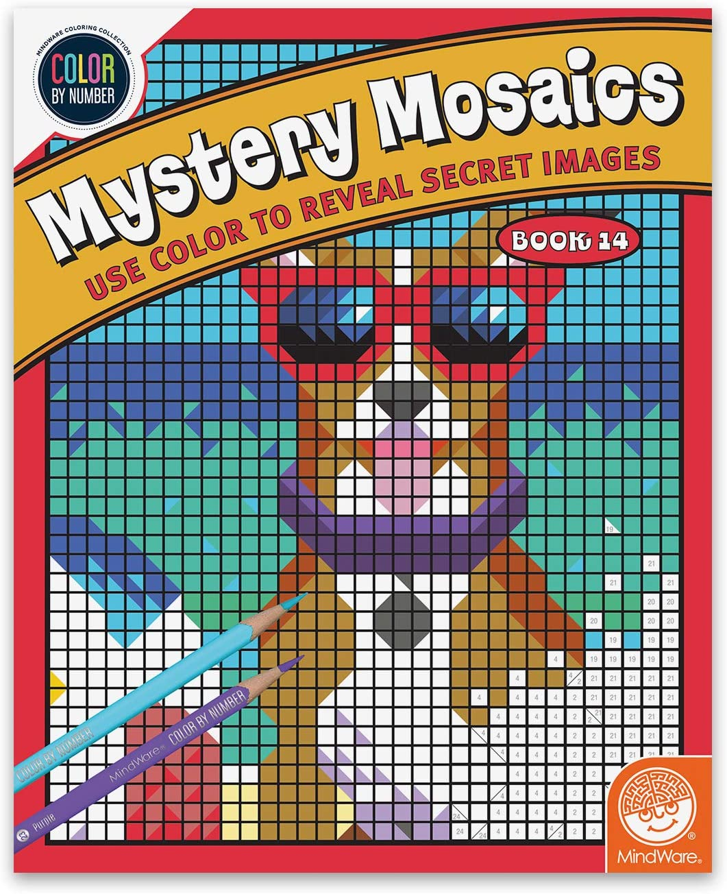Book 5 MindWare Color by Number Mystery Mosaics: