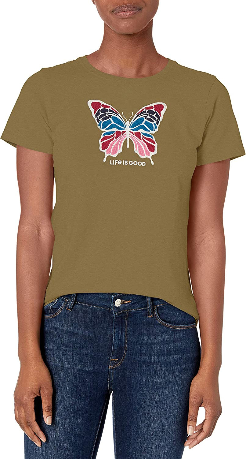 Life is Good Womens Crusher Tee Daisy Painted