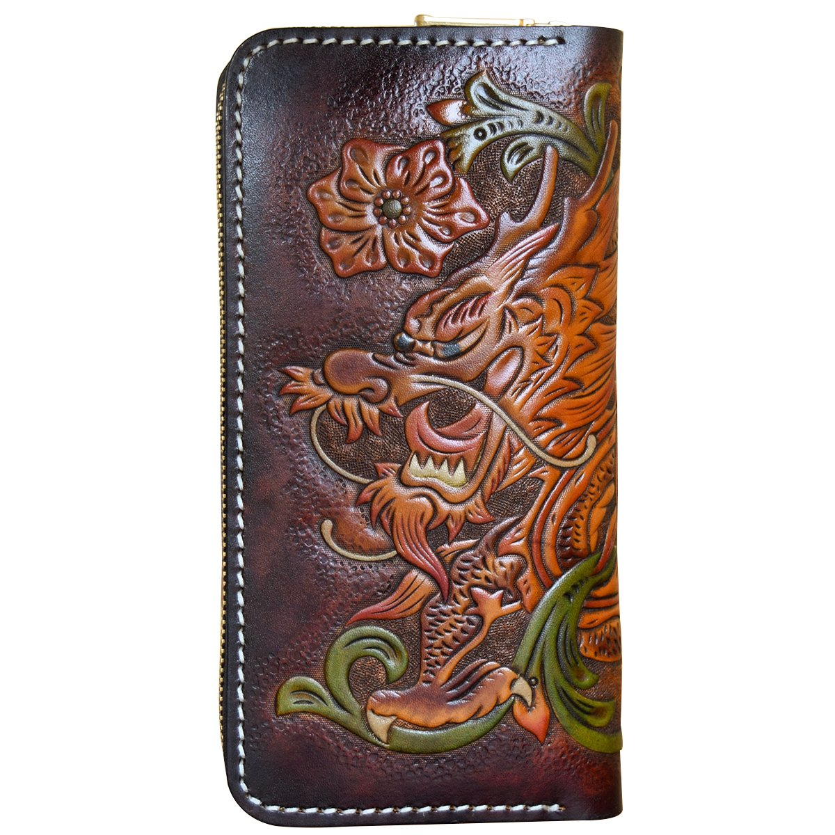OLG.YAT Vegetable tanned leather Retro Genuine Leather Men's Wallets WLLTLL2 by OLG.YAT