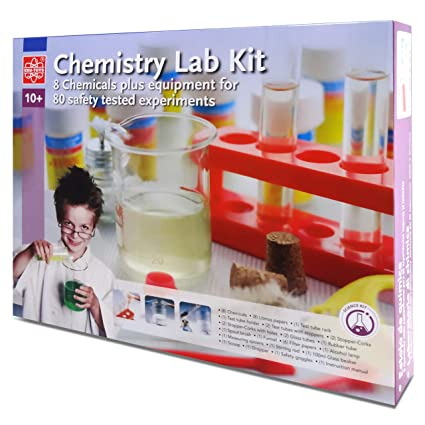 Elenco Edu-Toys Chemistry Lab | Introduction to Chemistry Principles |  Includes Everything You Need | Beakers, Test Tubes, Thermometer and More |  Plus