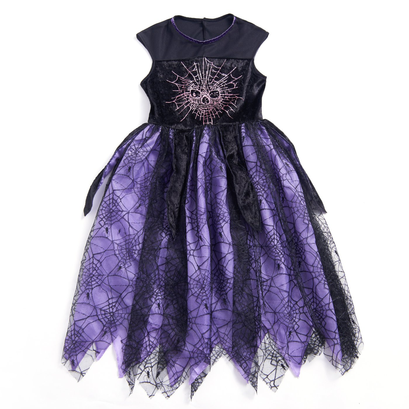Girls' Halloween Colourful Magical Witch Costume
