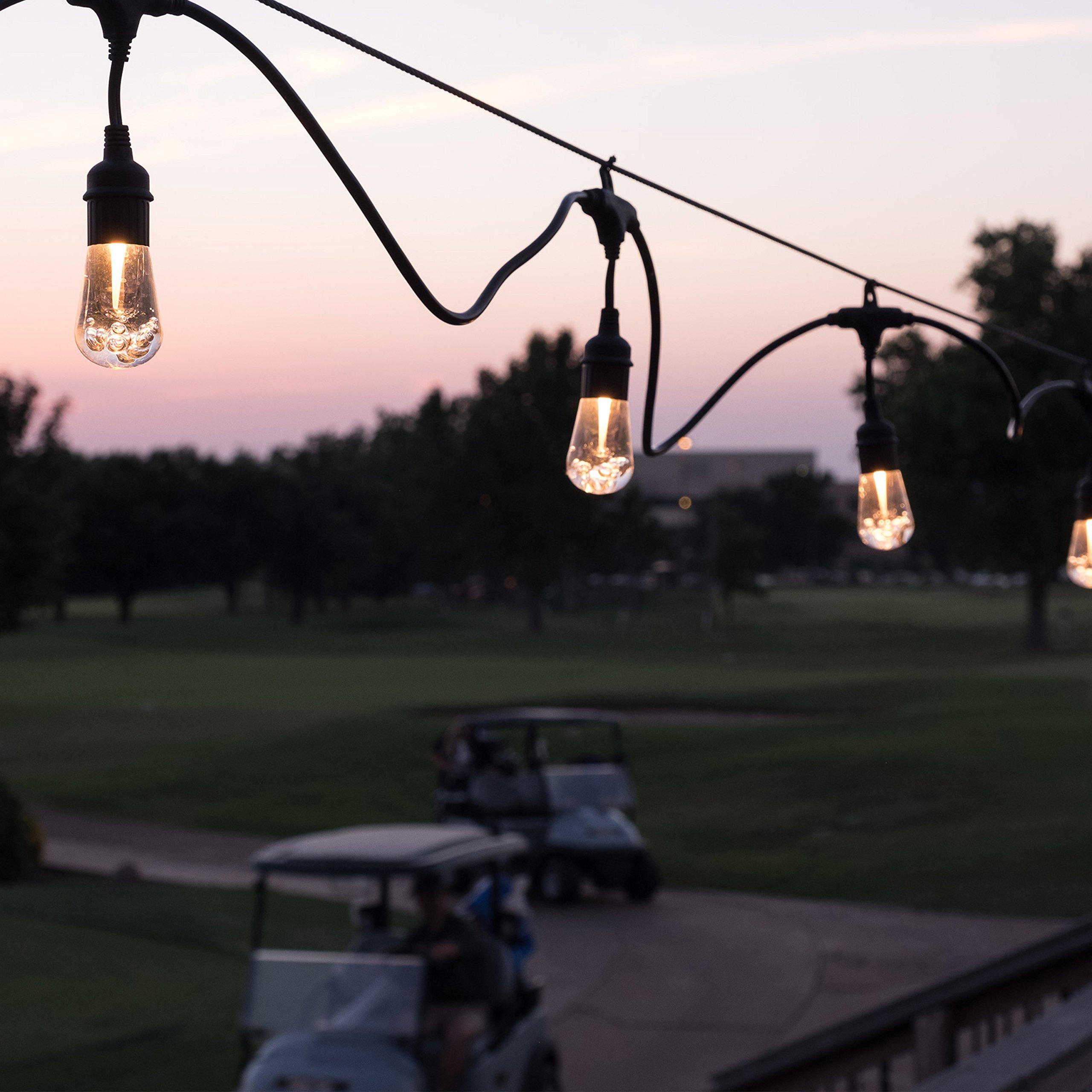 Enbrighten 37790 Vintage Seasons LED Warm White & Color Changing Café String Lights, Black, 48ft, 24 Premium Impact Resistant Lifetime Bulbs, Wireless, Weatherproof, Indoor/Outdoor, 48 ft, by Enbrighten (Image #5)