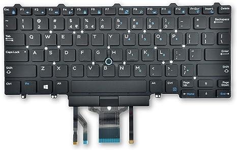 Dell Latitude 5490 7490 Teclado retroiluminado internacional ...