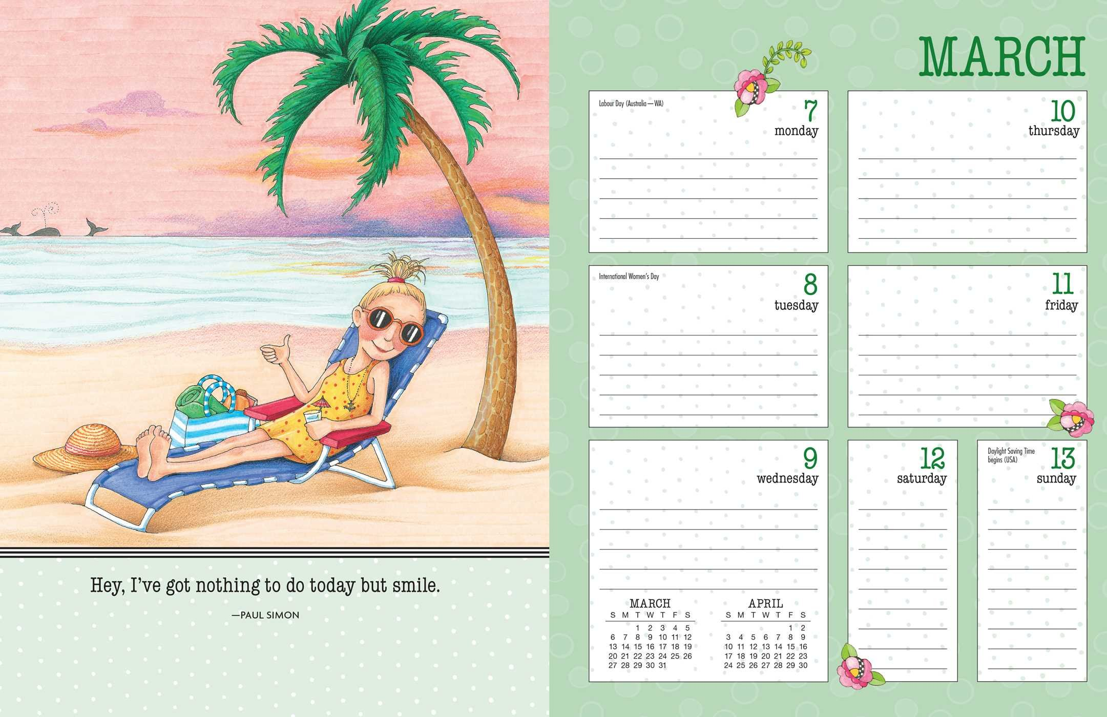mary engelbreit 2016 weekly planner calendar smile it u0027s good for