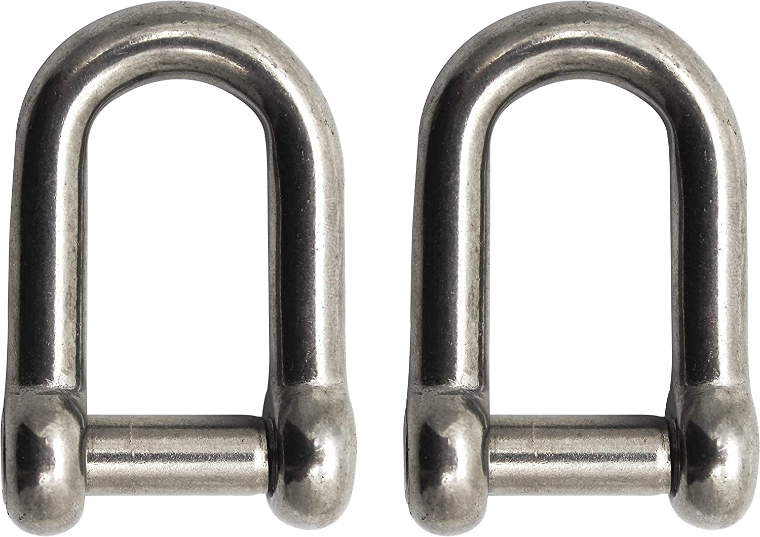 Extreme Max 3006.8402 Stainless Steel D Shackle with No-Snag Pin 1//2 1//2