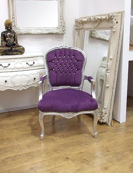 Delicieux VintageVibe Louis Purple   Purple Velvet Louis Style Salon Chair