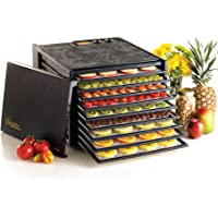 Excalibur RES10 10-Tray Electric Food Dehydrator with Smart Digital Controller Features Two Drying Zones with Adjustable Time and Temperatures Program and Save 30 Recipes Made in USA