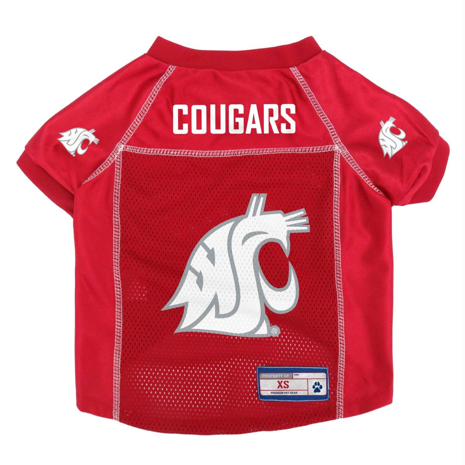 Washington State Cougars Mesh Pet Jersey XL