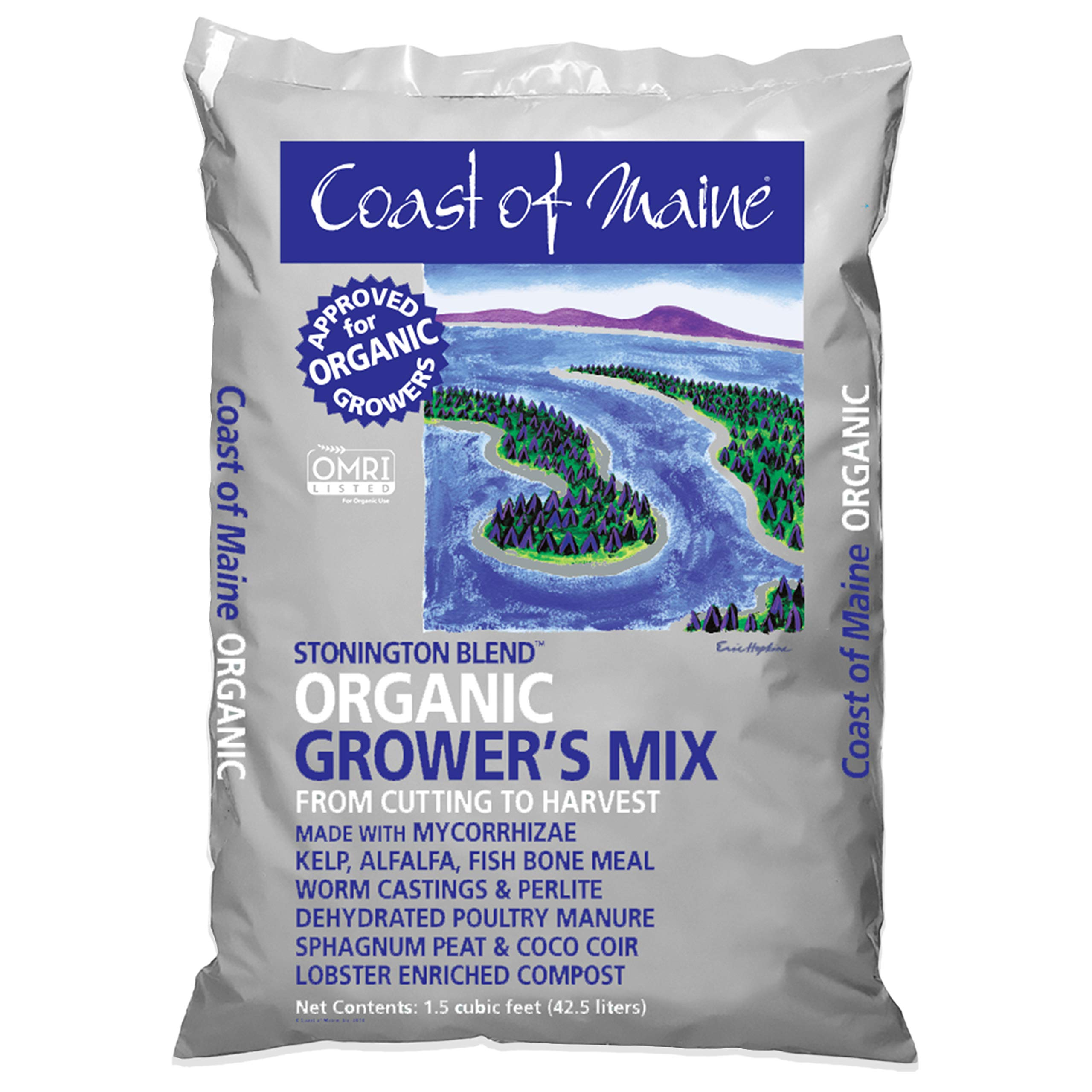 Coast of Maine - Platinum Grower's Mix, Super Soil, Stonington Blend, 1.5cf by Coast of Maine