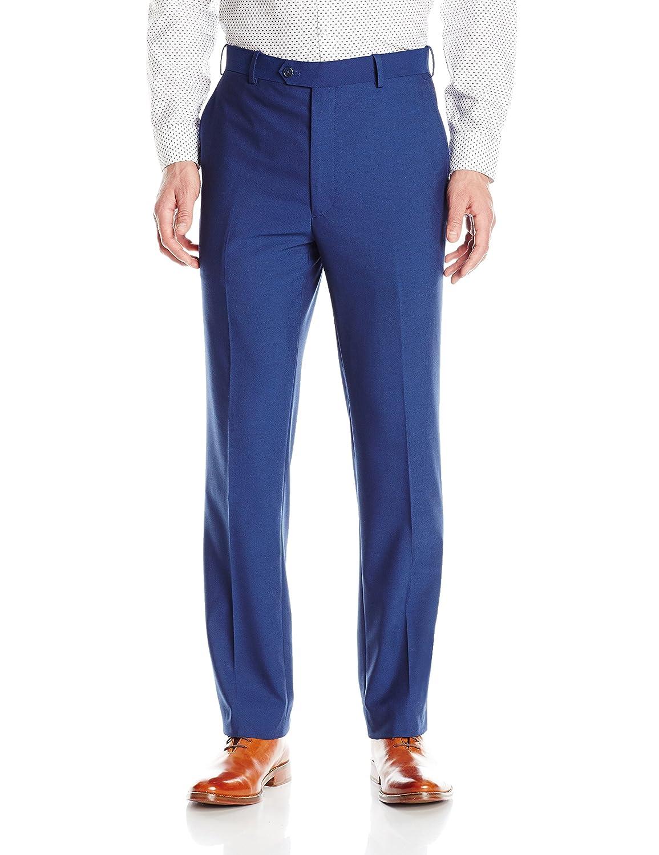 Adolfo Men's Micro Tech Slim Fit Flat Front Suit Pant