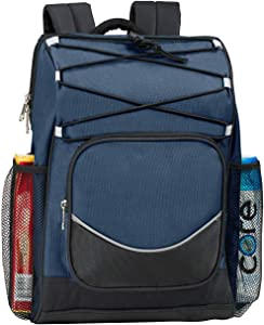 Backpack Cooler Backpack Insulated, Hiking Backpack Coolers, Travel Backpack Great Soft Cooler Bag for Backpacking, Picking Bag, Beach Bag, Lunch Bag for Women and Men, Holds 20 cans Blue Soft Cooler