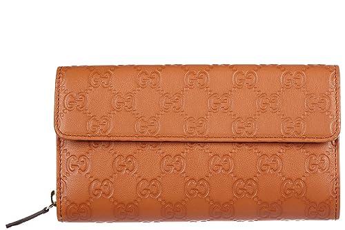 Gucci monedero cartera bifold de mujer en piel nuevo logo marrón: Amazon.es: Zapatos y complementos