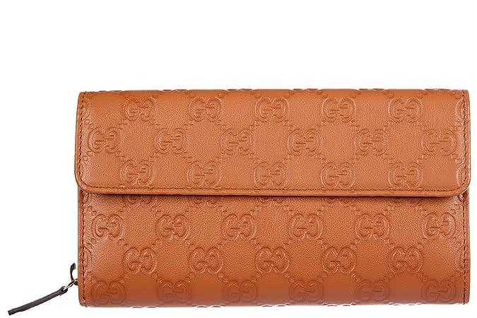 Gucci monedero cartera bifold de mujer en piel nuevo logo ...