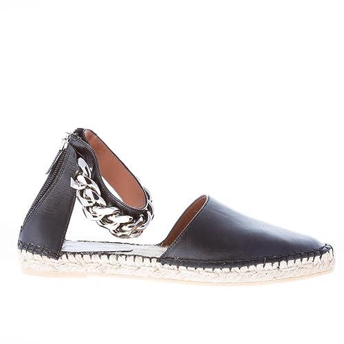 Caviglia Givenchy In Espadrillas Pelle Donna Con Alla Catena Nero qqz8Agw