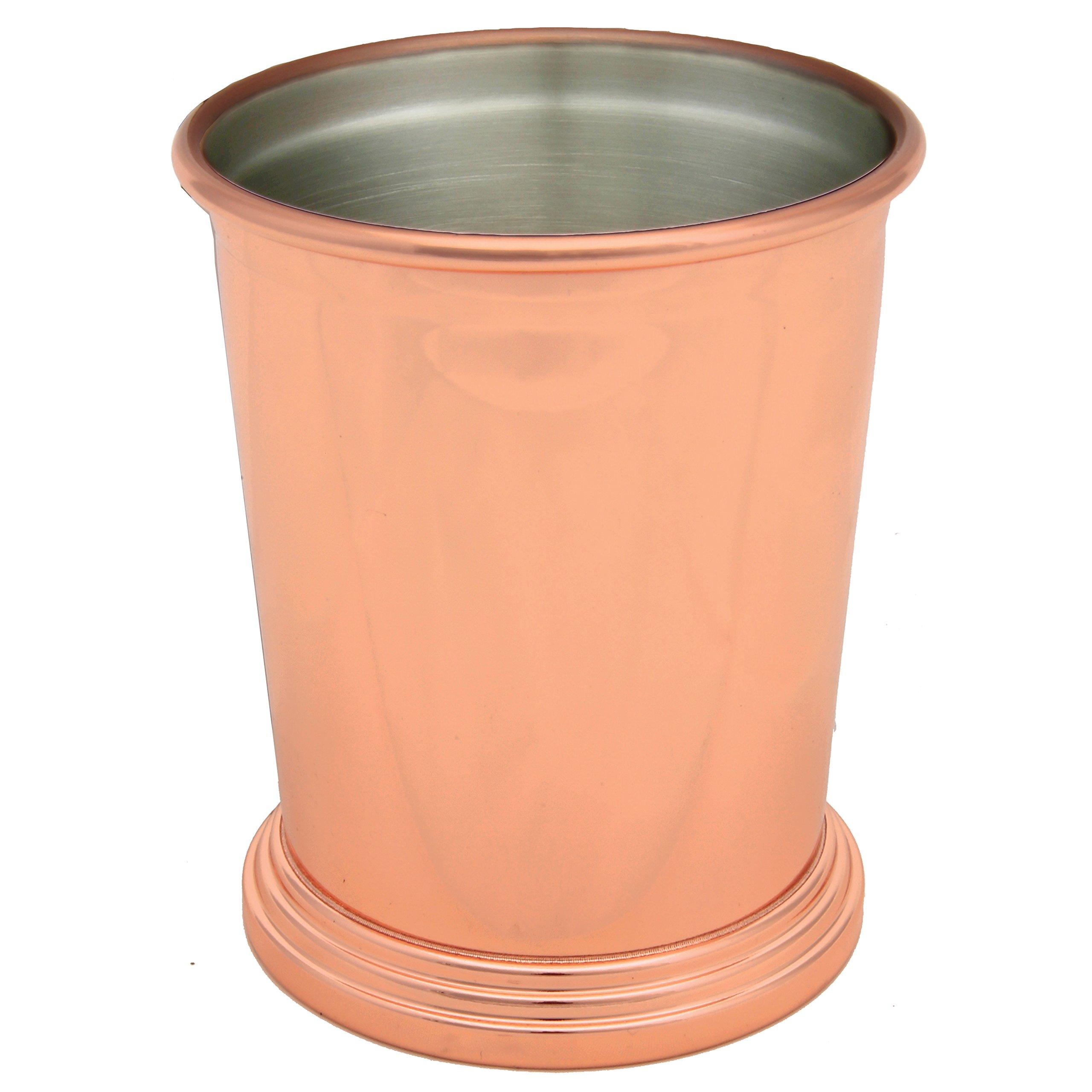 Vastigo 14 oz Mint Julep Cup w/Elegant Stainless Steel Body - Rose Gold