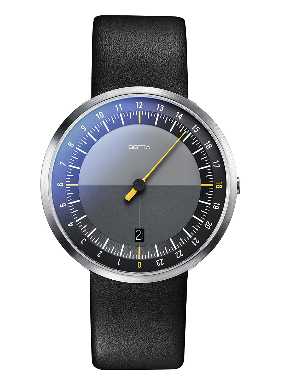 Einzeigeruhr 24 Stunden - Armbanduhr – UNO 24 von Botta-Design – Einzeiger-Uhr fÜr Herren mit 24h Zifferblatt – Uhren