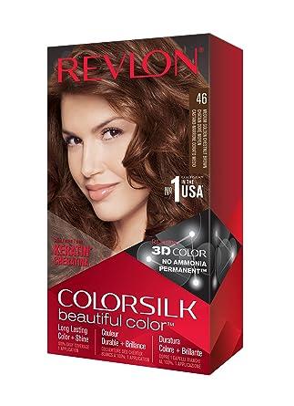 Revlon ColorSilk Tinte de Cabello Permanente Tono #46 Castaño ...