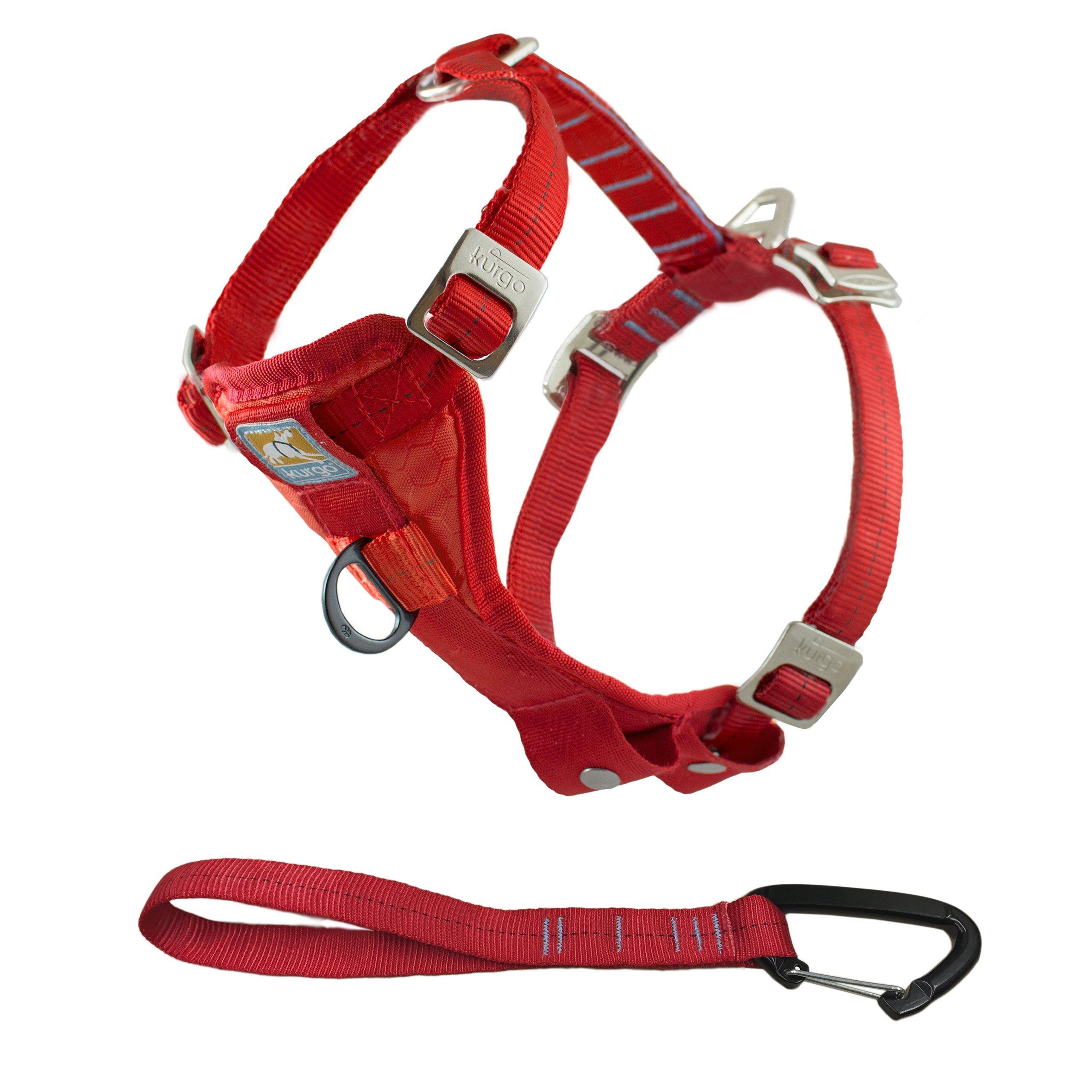 Kurgo Tru-Fit(TM) Crash Tested Dog Harness, Red, Medium