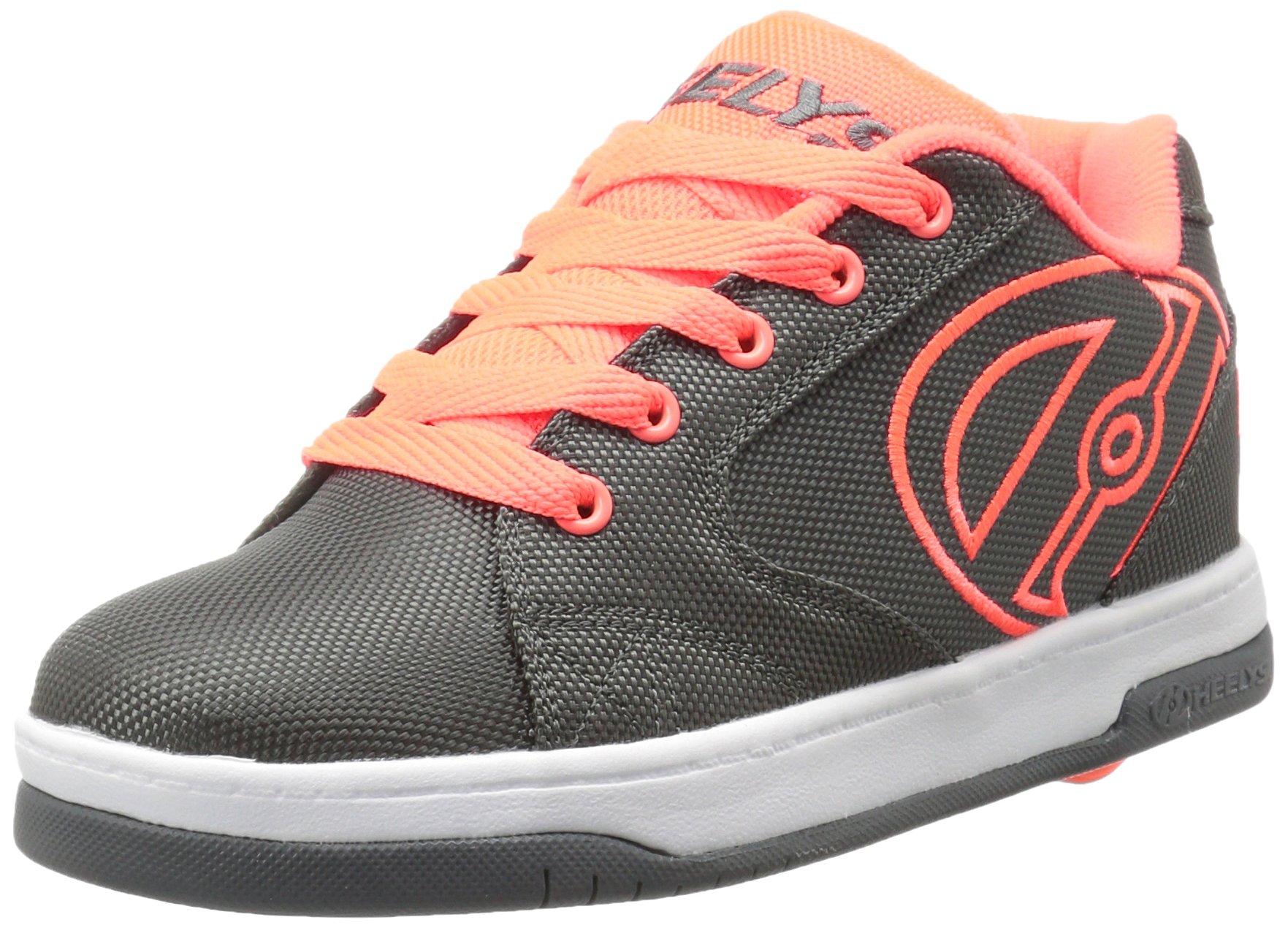 Heelys Boys' Propel 2.0 Sneaker, Charcoal/Orange, 8