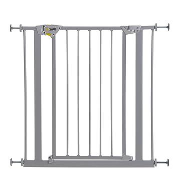 Hauck Trigger Lock/Schutzgitter, für Kinder,für Hunde und Katzen, 75-81 cm, Befestigung ohne Bohren, zum Klemmen, mit Tür, be
