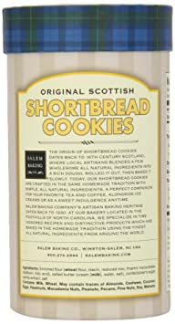Amazon.com: Salem Baking Company Original Scottish Shortbread Cookies, 5-Ounce Tubes (Pack of 3)