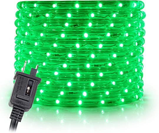 WYZworks 50 feet 1//2 Thick Cool White Pre-Assembled LED Rope Lights with 10 UL Certified 25 100 Christmas Holiday Decoration Lighting 150 Option