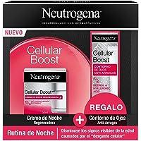 Neutrogena Cellular Boost Antiedad Rutina de Noche con Crema de Noche Regeneradora y Contorno de Ojos, Pack de 3…