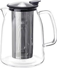 FORLIFE Mist Iced Tea Jug with Basket Infuser, Black Graphite