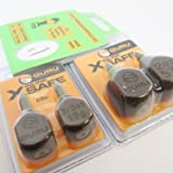 FTD - Min 4 Leads (2 Packs of 2) GURU IN LINE X-SAFE Square Leads Tackle for Carp Fishing (available in 2/3oz, 1.1oz, 1.5oz & 2.0oz) - also comes with 10 FTD Hooks to Nylon