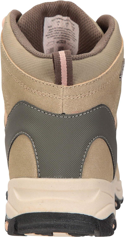 Mountain Warehouse Rapid Wasserfeste Stiefel für Damen - Wanderschuhe aus Wildleder und Netzstoff, Schuhe, Wanderstiefel mit Gummilaufsohle - Für Reisen, Camping Beige