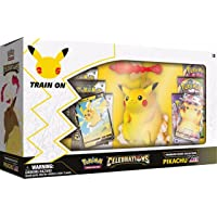 Pokémon USA, Inc. | Pokemon TCG: Celebrations Premium Figure Collection - Pikachu VMAX (25e jaar) | Kaartspel | Leeftijd…