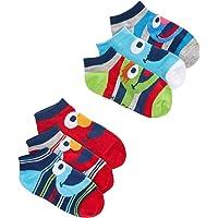 Sesame Street Toddler Boy's 6 Pack Low Cut Character Socks, Sock Size 4-6 (Shoe Size 7-10)