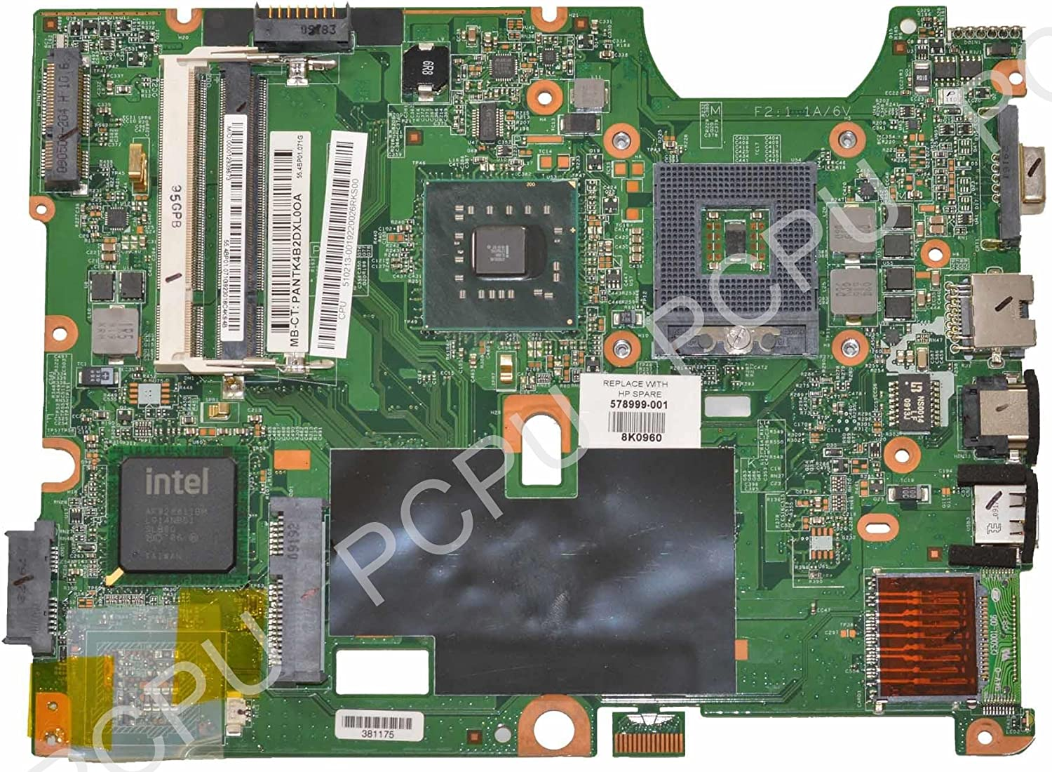 578999-001 HP G60 Compaq CQ60 Intel Laptop Motherboard